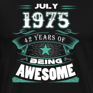 July 1975 - 42 years of being awesome - Men's Premium T-Shirt