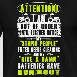 Attention Farmer T Shirts - Men's Premium T-Shirt