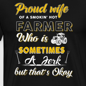 Proud wife Farmer T Shirts - Men's Premium T-Shirt