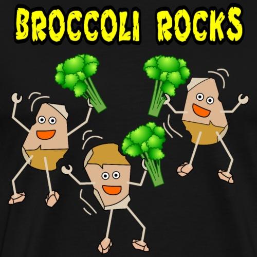 Three Broccoli Light Rocks - Men's Premium T-Shirt