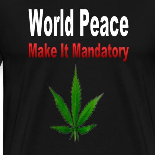 World Peace - Make It Mandatory - Men's Premium T-Shirt