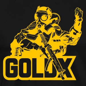 goldX cutout gold - Men's Premium T-Shirt