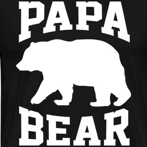 Papa Bear for Father Day - Men's Premium T-Shirt