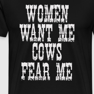 Cows Fear Me - Men's Premium T-Shirt