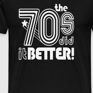 The 70 s Decade better - Men's Premium T-Shirt