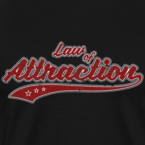 Law of Attraction (retro Color) - Men's Premium T-Shirt