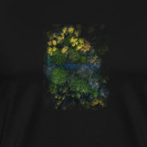 Cubed River - Men's Premium T-Shirt