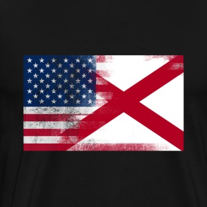 Alabama American Flag Fusion - Men's Premium T-Shirt