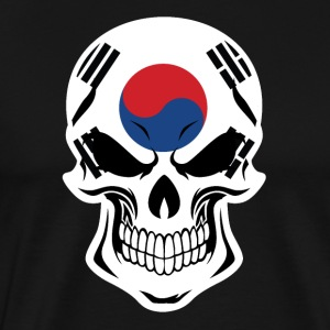 Korean Flag Skull - Men's Premium T-Shirt