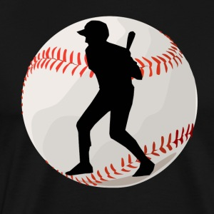 Baseball Batter Silhouette - Men's Premium T-Shirt