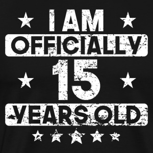I Am Officially 15 Years Old 15th Birthday - Men's Premium T-Shirt