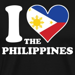 I Love the Philippines Filipino Flag Heart - Men's Premium T-Shirt