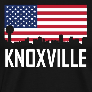 Knoxville Tennessee Skyline American Flag - Men's Premium T-Shirt