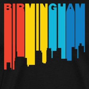 Retro 1970's Style Birmingham Alabama Skyline - Men's Premium T-Shirt