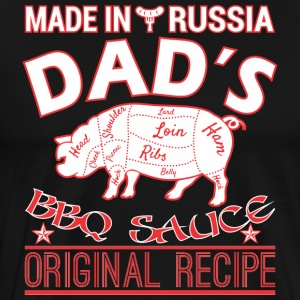Made In Russia Dads BBQ Sauce Original Recipe - Men's Premium T-Shirt