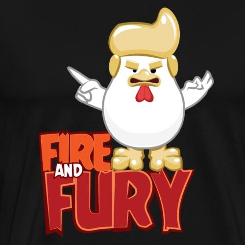Fire and fury - Chicken Trump - Men's Premium T-Shirt