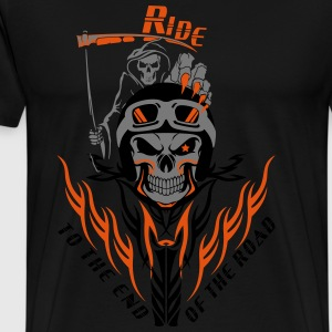 Biker Reaper Ride To The End Of The Road - Men's Premium T-Shirt