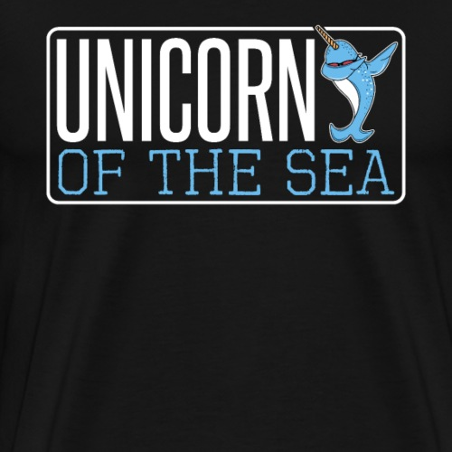 UNICORN OF THE SEA, Narwhale - Men's Premium T-Shirt