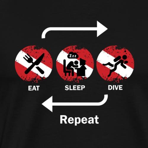Eat Sleep Dive - Men's Premium T-Shirt