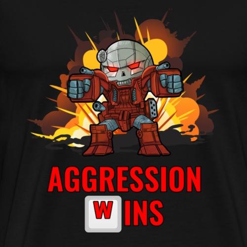 Aggression Wins - Extra Large Edition! - Men's Premium T-Shirt
