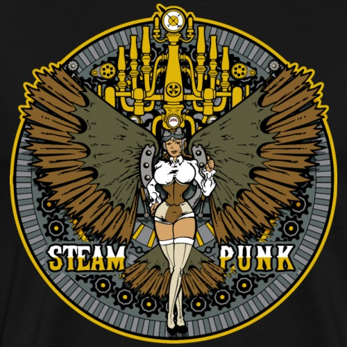 Steampunk Woman - Men's Premium T-Shirt