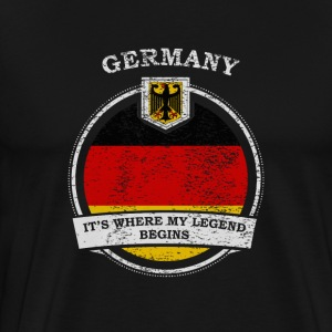 Germany It's Where My Legend Begins - Men's Premium T-Shirt