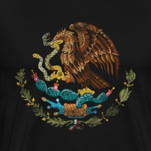 Mexican Coat of Arms Mexico Symbol - Men's Premium T-Shirt
