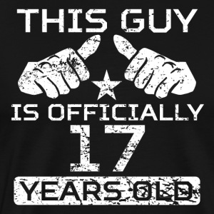 This Guy Is Officially 17 Years Old - Men's Premium T-Shirt