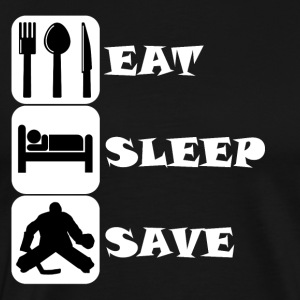 Eat Sleep Save Hockey - Men's Premium T-Shirt