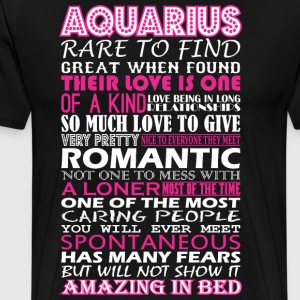 Aquarius Rare To Find Romantic Amazing To Bed - Men's Premium T-Shirt