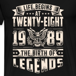 Life Begins at Thirty-Eight Legends 1989 for 2017 - Men's Premium T-Shirt