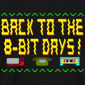 Back to the 8 Bit Days - Men's Premium T-Shirt