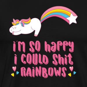 I´m so happy I could shit rainbows - Men's Premium T-Shirt