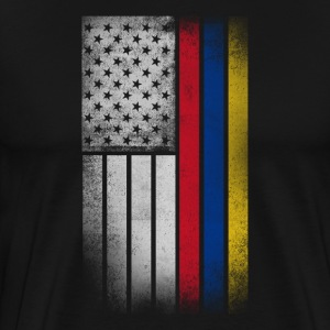 Colombian American Flag - Men's Premium T-Shirt