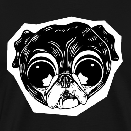 Pug Head - Men's Premium T-Shirt