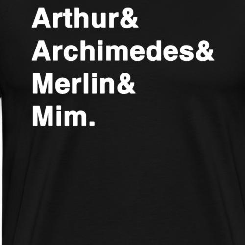 Sword in the Stone Arthur Archimedes Merlin Mim - Men's Premium T-Shirt