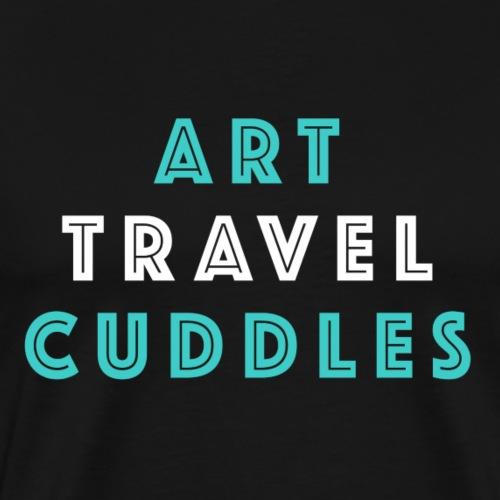 Life Trio: Art, Travel, Cuddles - Men's Premium T-Shirt