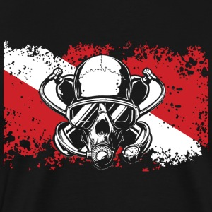 Flag diver_skull - Men's Premium T-Shirt