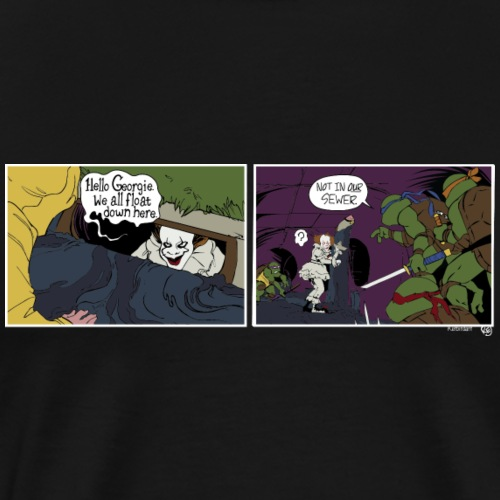 Pennywise vs TMNT - Men's Premium T-Shirt