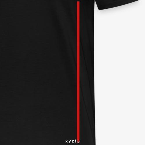 xyzte red stripe - Men's Premium T-Shirt