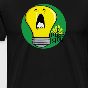 I miss you crying incandescent light bulb - Men's Premium T-Shirt