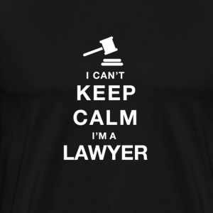 I CAN T KEEP CALM lawyer - Men's Premium T-Shirt