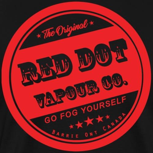 Old School Red Dot Vapour - Men's Premium T-Shirt