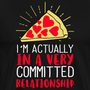 I´m actually in a very committed relationship - Men's Premium T-Shirt