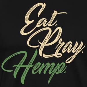 Eat. Pray. Hemp. - Men's Premium T-Shirt