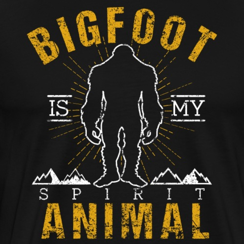 Bigfoot Is My Spirit Animal Retro Style Sasquatch - Men's Premium T-Shirt