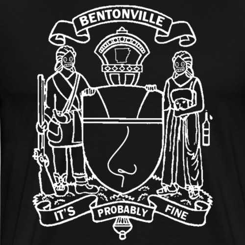 Bentonville Coat of Arms in white - Men's Premium T-Shirt