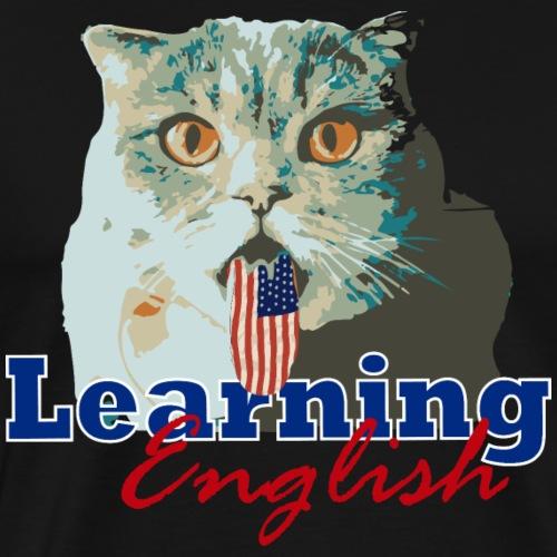 Learning English Cat - Men's Premium T-Shirt