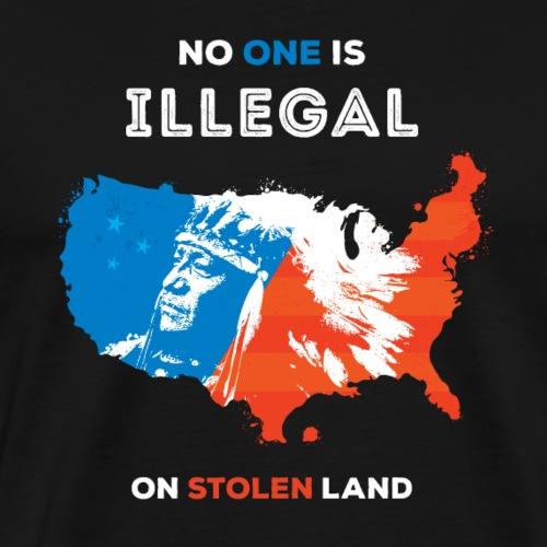 no one is illegal CENTAR - Men's Premium T-Shirt