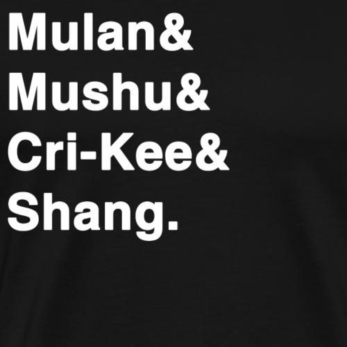 Mulan Disney list Mulan Mushu Cri-Kee Shang - Men's Premium T-Shirt